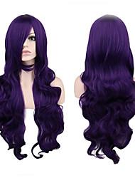 Mujer Pelucas sintéticas Sin Tapa Largo Rizado Morado Peluca de cosplay Las pelucas del traje