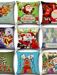 9 Design Merry Christmas Santa Claus Pillow Cover 1 Pcs Sofa Cushion Cover Square Pillow Case