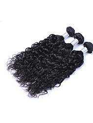 Hot Selling 3 Pcs 300g Brazilian Virgin Human Hair Wefts 100% Unprocessed Natural Black Hair 130% Density Natural Wave Human Hair Weaves/Extensions