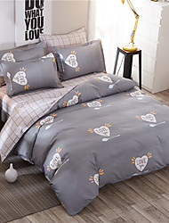 Duvet Cover Set 1pc Duvet Cover 1pc Bed Sheet Set 2  pcs Pillowcase Bedding Set Blue flower