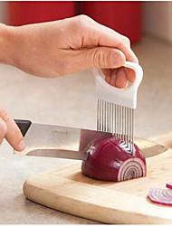 2PCS Random Color Stainless steel onion cut onion needle kitchen gadgets onion