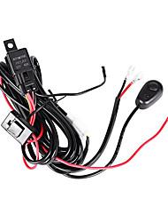 3m de comprimento prolongar o fio 1-2 kit de arnês de relé com ligar / desligar ligar para luz de trabalho led / barra de luz led (1