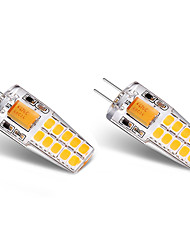 3W Luces LED de Doble Pin T 20 SMD 2835 300 lm Blanco Cálido Blanco V 2 piezas