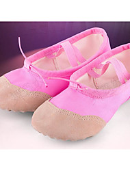 Women's Ballet Canvas Fabric Flats Practice Blushing Pink Ruby Black