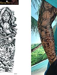 Tatuagens Adesivas Outros não tóxica Tamanho Grande Á Prova d'água Feminino Masculino Adolescente Tatuagem Adesiva Tatuagens temporárias