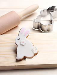 1 Файлы cookie Rabbit Животные Мультфильм образный конфеты Для Sandwich Хлеб Печенье Пироги Для получения сыра Нержавеющая стальНовый год