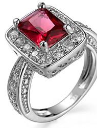 Ring Settings Ring Band Rings Women's Euramerican Luxury Elegant Creative Zircon Square  Wedding Birthday Party Movie Gift Jewelry