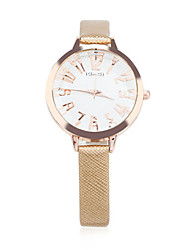 Mulheres Relógio de Moda Quartzo Couro Banda Dourada
