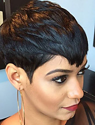 Ripe Hot Sale Black Short Straight  Hair Human Hair Wigs