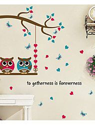 Животные Романтика Геометрия Наклейки Простые наклейки Декоративные наклейки на стены материал Украшение дома Наклейка на стену
