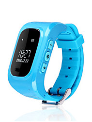 Kid's Smart Watch Digital Rubber Band White Blue Pink
