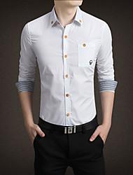 Для мужчин Для вечеринок День рождения Вечерние Повседневные На каждый день Большие размеры Лето Осень Рубашка Рубашечный воротник,Винтаж