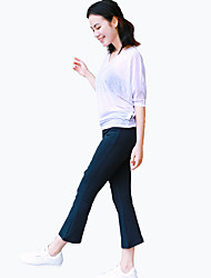 Pantalon de yoga Mi-long Taille moyenne Extensible Vêtements de sport CONNYYoga Pilates Exercice & Fitness Sport de détente