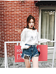 Women's High Rise High Elasticity Shorts Pants,Cute Relaxed Solid