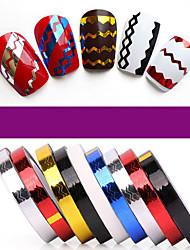 Pinpai 12 couleurs autocollant d'art autocollant de fils métalliques sur le fil métallique élargi fil diy