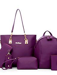Mulher Bolsas Todas as Estações Tecido Oxford Conjuntos de saco com para Casual Azul Preto Bege Roxo Fúcsia