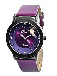 Жен. Модные часы Кварцевый Кожа Группа Черный Красный Фиолетовый