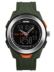 Men's Sport Watch Digital Watch Digital PU Band Black Green