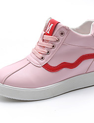 Women's Heels Formal Shoes Comfort PU Fall Casual Party & Evening Dress Walking Formal Shoes Comfort   Wedge HeelBlushing Pink