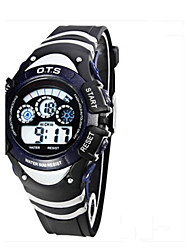 Kid's Fashion Watch Digital Rubber Band Casual Black Blue