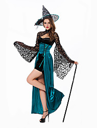 Cosplay Costumes Wizard/Witch Festival/Holiday Halloween Costumes Dress Hats Halloween Female Polyester