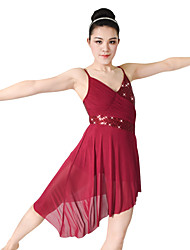 MiDee Performance Dresses Women's / Children's Performance Spandex / Sequined Draped / Pleated / 2 PiecesDark