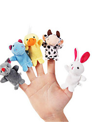 10pcs set cartoon animal animal peluche marionnettes kids talk prop enfants forêt favor dolls