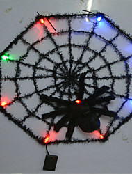 Halloween Bar KTV House Ornaments Glow Spider Web Color Random