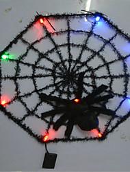 Halloween bar ktv maison ornements brillant toile araignée couleur aléatoire