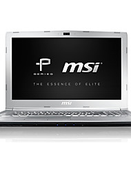 Msi ordinateur portable 15.6 pouces intel i7-7700hq quad core 8gb ddr4 1tb 128gb ssd windows10 gtx1050 2gb rétro-éclairé pe62 7rd-1064cn