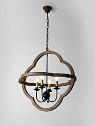 Старинный металлический американец промышленный чердак цвет краски деревянная люстра лампа для крытого / гостиничного / кофейного зала /