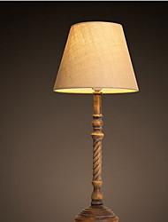 Modern Pastoral Wind Wood Art Fabrics Retro Bedroom Bedside Living Room Book Desk Lamps