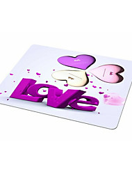 DOB I Love You Mouse Pad Rubber Cloth Waterproof Office Mouse Pad 21.5CM * 18CM