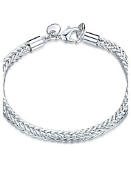 Exquisite Silver Plated  Twist Style Bracelet Chain & Link Bracelets Jewellery for Women Accessiories