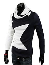 Men's Athleisure Active Regular Cardigan,Solid Crew Neck Long Sleeve Organic Cotton Fall Winter Medium Micro-elastic