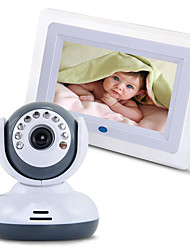 2.4G Wireless Baby Monitor with 7'' LCD Screen Night Vision Two-Way Support TV Display