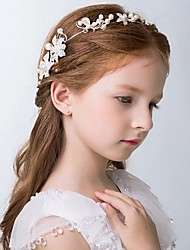 Girl's Headband Pearl Rhinestone Decorative Flower Hair Accessory