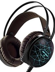Стерео ПК игровая гарнитура 7 цветов дышат светодиодные наушники с ушным вкладышем с микрофоном, предназначенным для игр comtuper