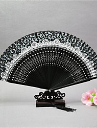 Folding Fan/Japanese Fan/Style Silk Fan/Craft Gift Fan/Silk Fan/Fake Lace Edge