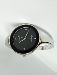 Жен. Модные часы Китайский Кварцевый Металл Группа Блестящие Кольцеобразный Серебристый металл