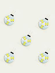 1W Luci LED Bi-pin 6 SMD 5630 75 lm Bianco caldo Bianco DC 12 V 5 pezzi