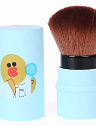 1pc מברשת פודרה שיער סינטטי ללא ריח לא זמין פלסטיק פנים