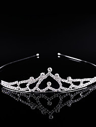 Bride Princess Crown Silver Crystal Hair Hoop Women Girls HairpinJewelry Diamond Tiara Headband Wedding Gifts Bridal Crown