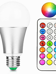 12W Bombillas LED Inteligentes A60(A19) 15 LED Integrado 800-900 lm Blanco Cálido RGB Regulable Control Remoto Decorativa V 1 pieza