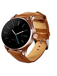 Men's Smart Watch Fashion Watch Digital Leather Band Black Brown