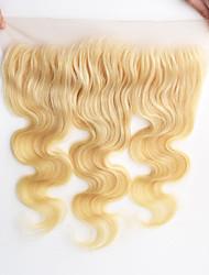 10-20inch 613 bělící blond krajka čelní tělo vlna blond lidské vlasy přední uzávěr 13x4