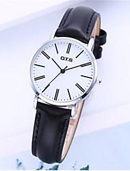 Mulheres Relógio de Moda Quartzo Couro Banda Preta Verde