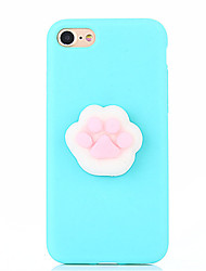 For Case Cover DIY Squishy Back Cover Case Solid Color Animal 3D Cartoon Soft Silicone for AppleiPhone 7 Plus iPhone 7 iPhone 6s Plus
