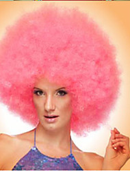 Pink Afro Jumbo Festival Fans Wig clown Costume Halloween Dress Up party Wig Synthetic Hair
