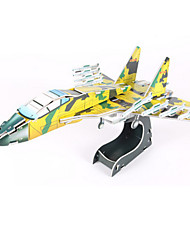Jigsaw Puzzles DIY KIT 3D Puzzles Building Blocks DIY Toys Aircraft Fighter High Quality Paper
